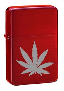 High Polished Red Ice Hash Leaf – Zippo Style