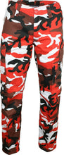 Load image into Gallery viewer, Mens/Womens Army Combat Cargo Camo Trousers – RED CAMO