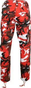 Mens/Womens Army Combat Cargo Camo Trousers – RED CAMO