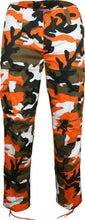 Load image into Gallery viewer, Mens/Womens Army Combat Cargo Camo Trousers – ORANGE CAMO