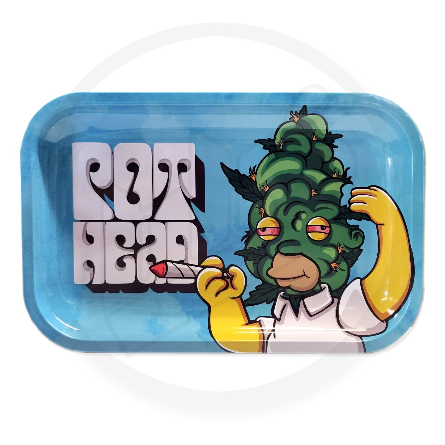 Smoke Arsenal Rolling Tray - LARGE (28cm x 18cm) - POT HEAD