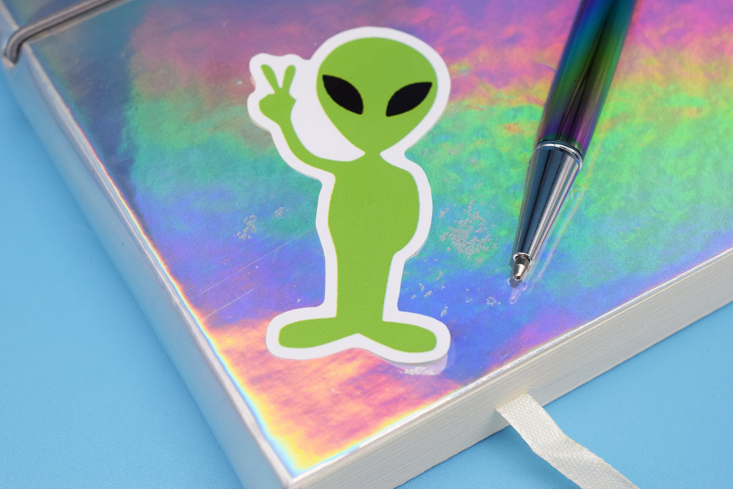 Alien Peace Sticker