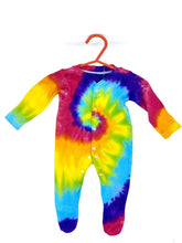 Load image into Gallery viewer, Handmade Rainbow Tie Dye Baby Grow