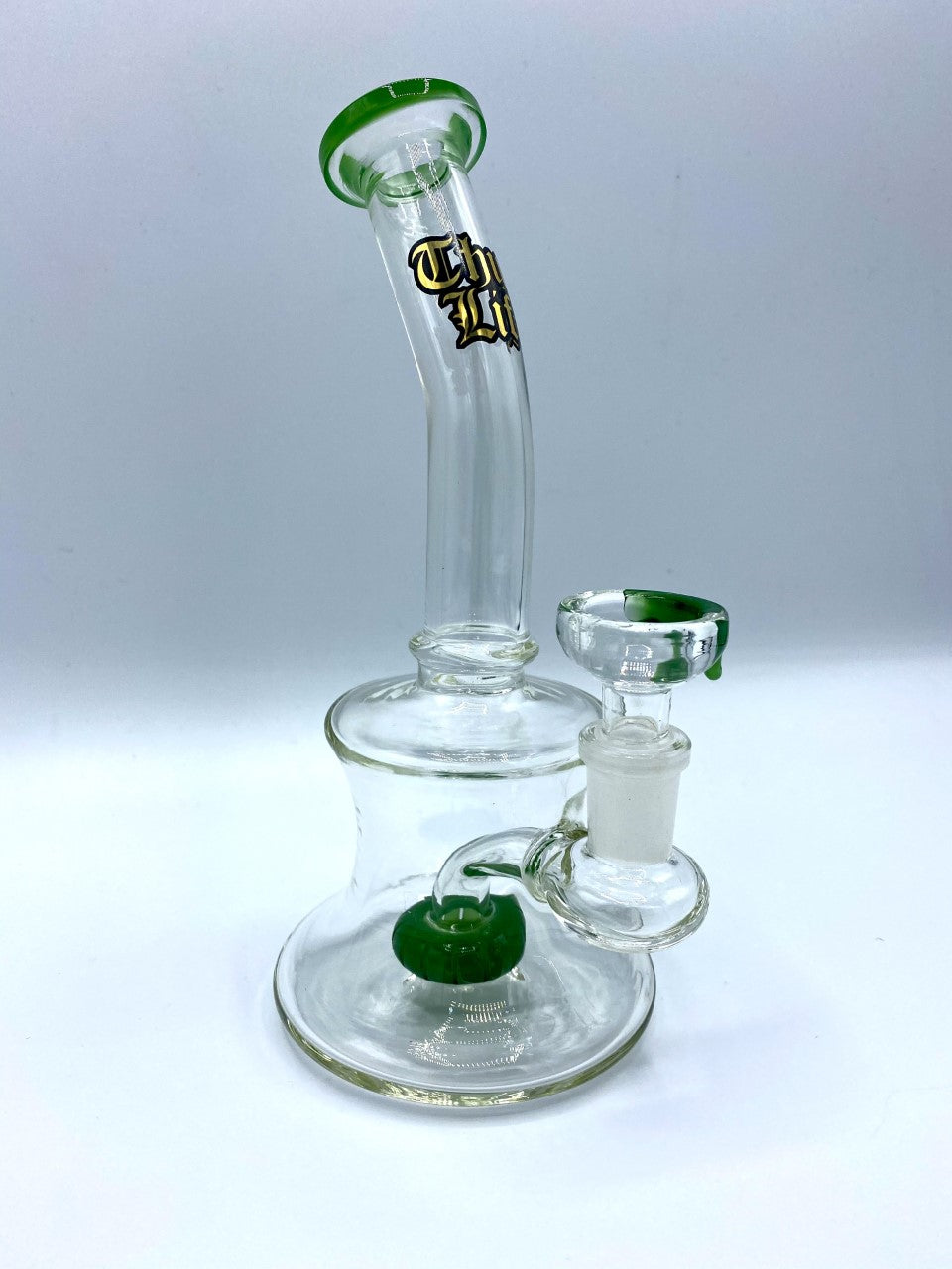 THUG LIFE 18cm Green Beaker Glass Waterpipe