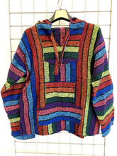 Load image into Gallery viewer, Mexican Baja Jerga Hoody - Rainbow