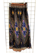 Load image into Gallery viewer, Peacock Print Thai Trim Trousers - BLACK