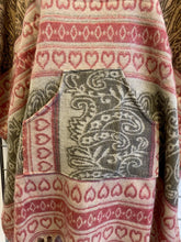 Load image into Gallery viewer, AZTEC HOODED NATURAL PONCHO