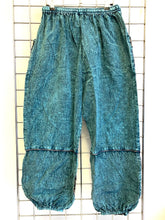 Load image into Gallery viewer, Stone Washed Trousers – TEAL
