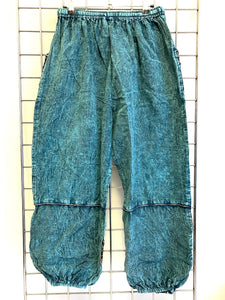 Stone Washed Trousers – TEAL