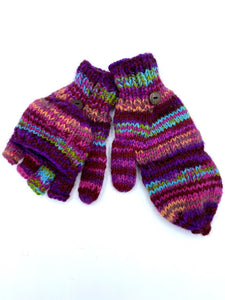 Woolen Purple Mittens/Gloves