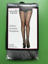Load image into Gallery viewer, Black Classic Fishnet Tights