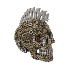 Load image into Gallery viewer, Mechanically Minded Large Steampunk Mohawk Skull