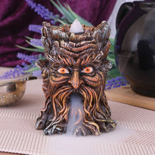 Load image into Gallery viewer, Aged Oak Tree Spirit Backflow Incense Burner
