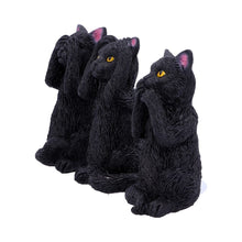 Load image into Gallery viewer, Three Wise Felines Black Cat Figures