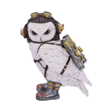 Load image into Gallery viewer, Steampunk The Aviator Pilot Snowy Owl Figurine