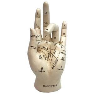 Palmistry Chriomancy Fortune Telling Hand Figurine