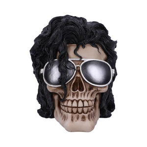 Bad Michael Jackson King of Pop Inspired Skull Ornament
