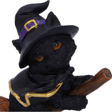 Load image into Gallery viewer, Tabitha Small Witches Familiar Black Cat and Broomstick Figurine
