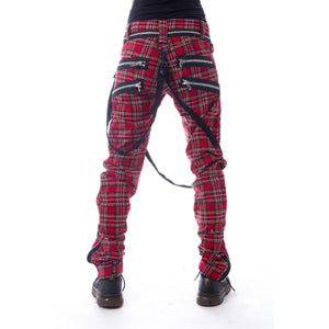 Vixxsin Red Tartan Vincent Trousers