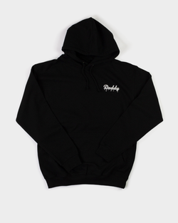 """Daddy Hoodie""  - Black/White Embroider - Daddy's Club"