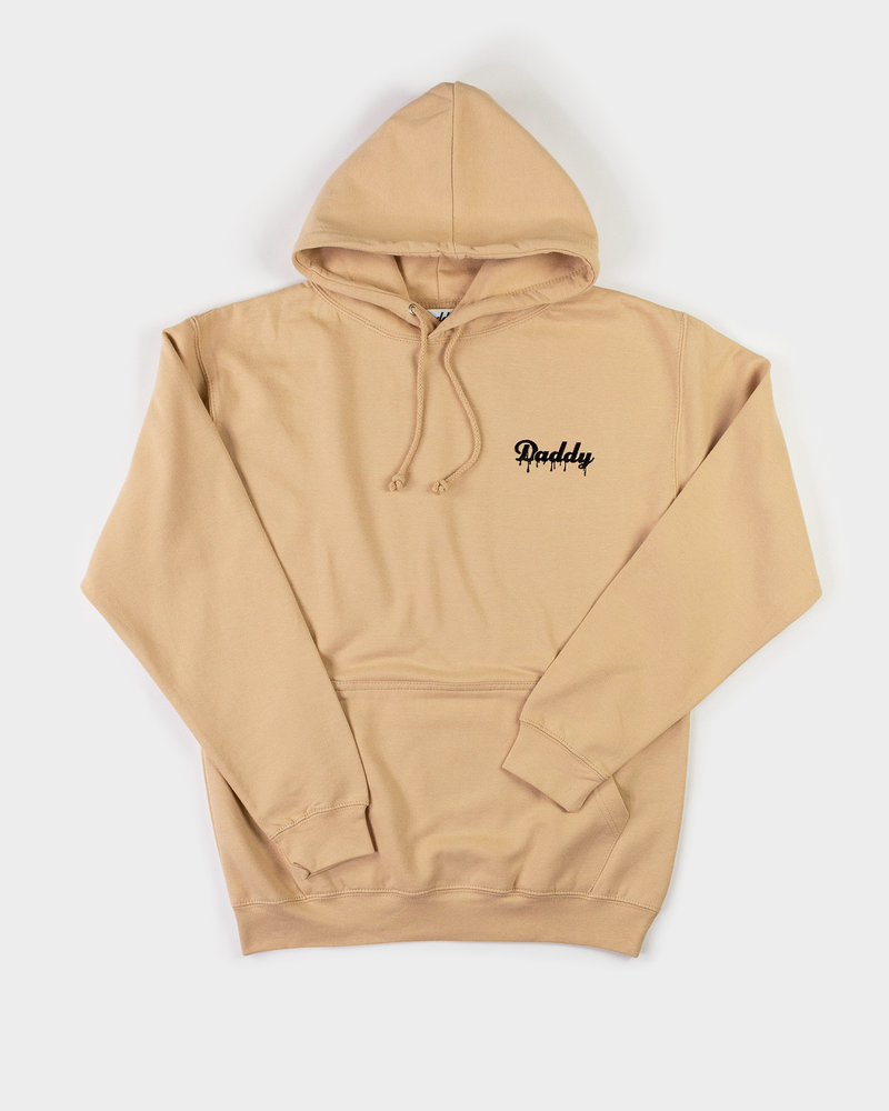 """Daddy Hoodie""  - Nude/Black Embroider - Daddy's Club"