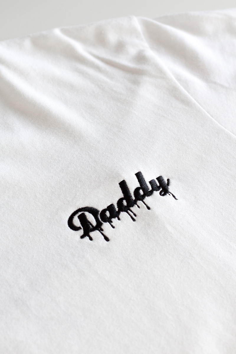 """Daddy Drip"" - White/Black Embroider - Daddy's Club"