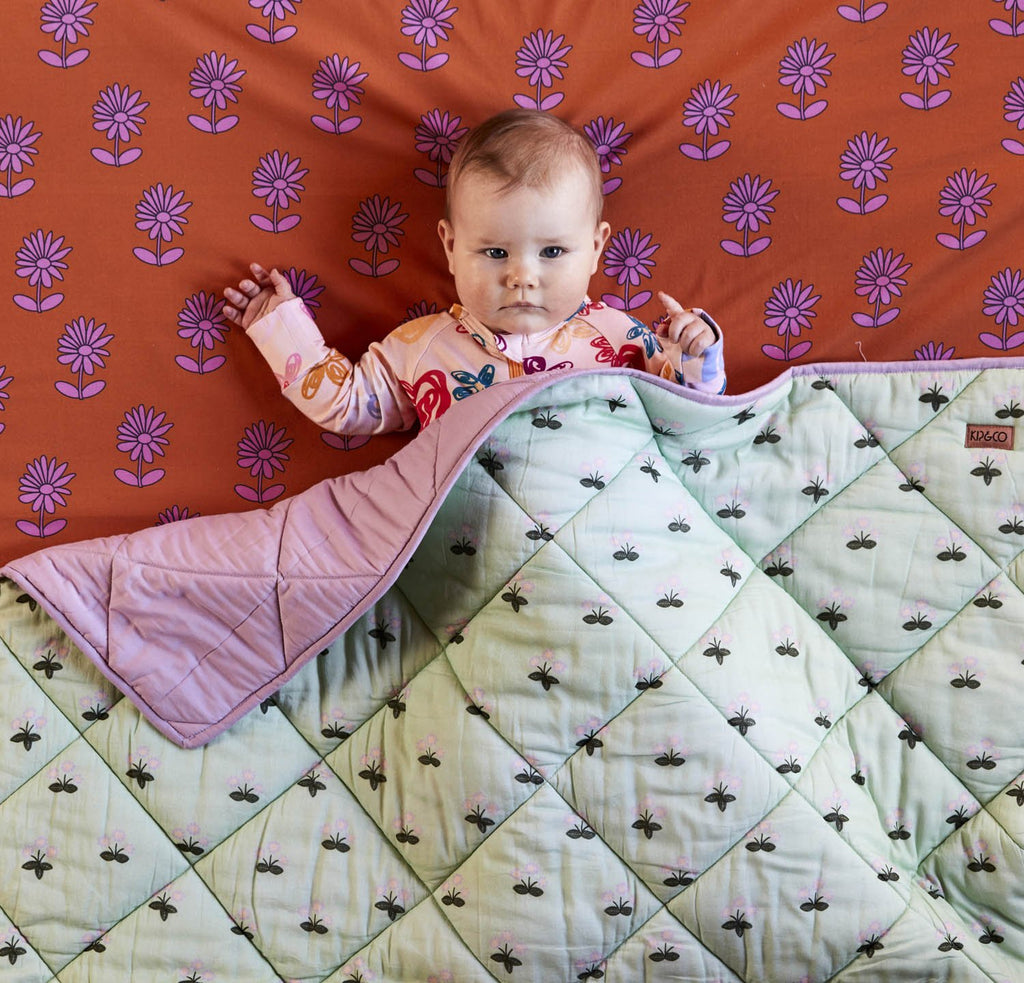 Buttercup Cotton Quilted Cot Bedspread