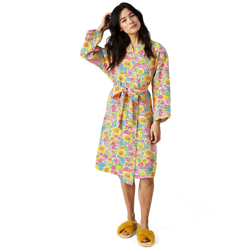 SUMMER POLLEN LINEN BATH ROBE
