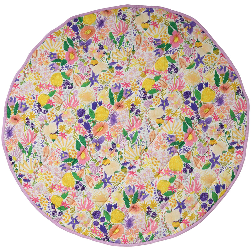Meadow White Cotton Baby Play Mat