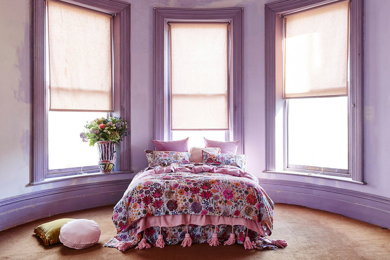 MAUVE FIELD OF DREAMS QUILT COVER