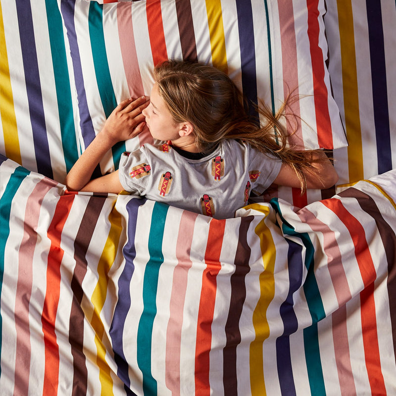 Big Stripe Cotton Quilt Cover
