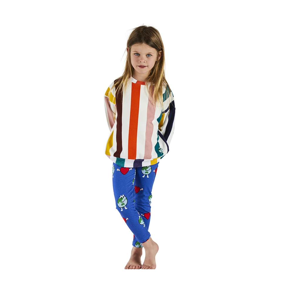 Big Stripes Primary Vintage Kids Sweater