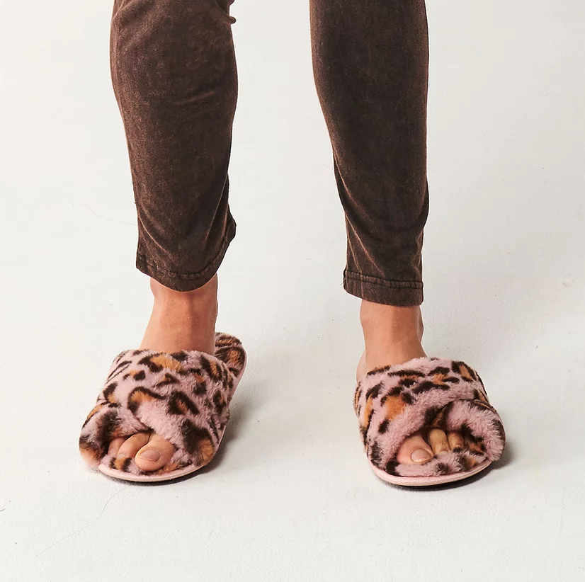 Slippers Pink Cheetah