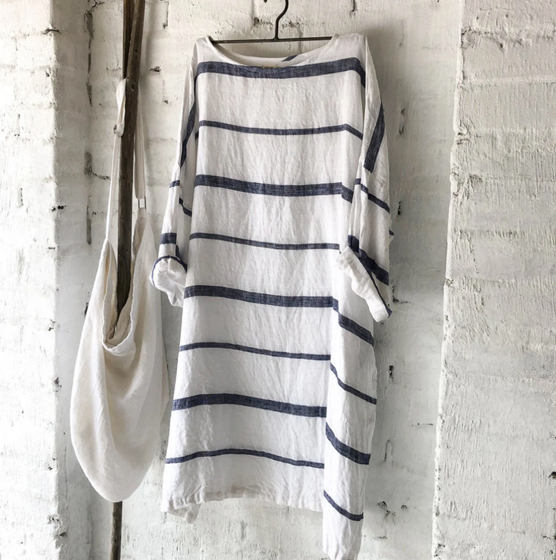 Newport LInen Dress Nautical
