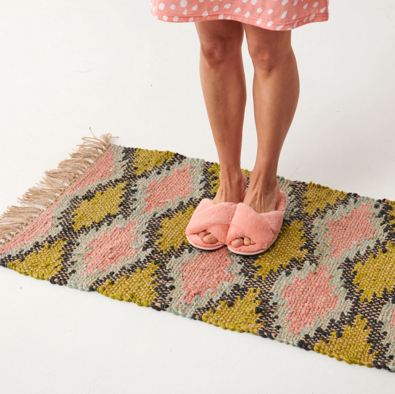 DIAMONDS JUTE FLOOR MAT