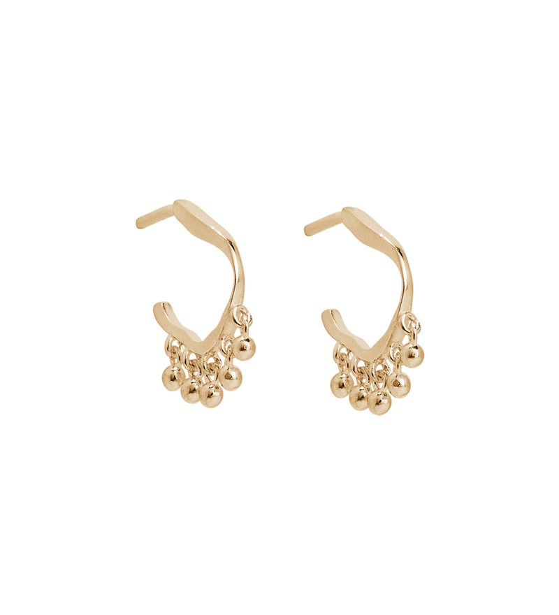 Sea Mist Hoops 9k Gold
