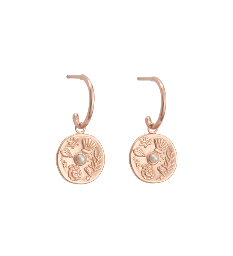 By The Sea Hoops Rose Gold Plated