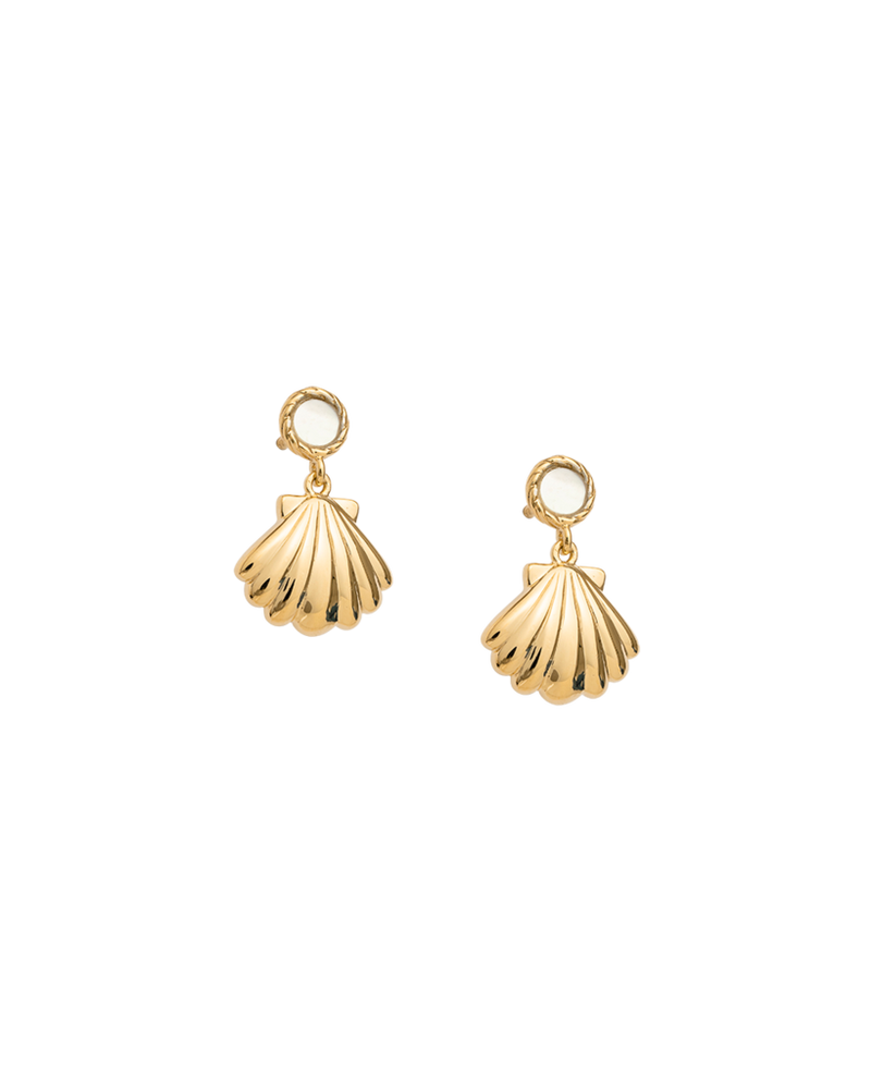 Seashell Earrings Gold Plated