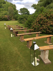 rustic bench hire aberdeenshire