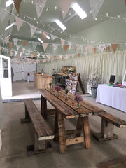 rustic table hire aberdeenshire