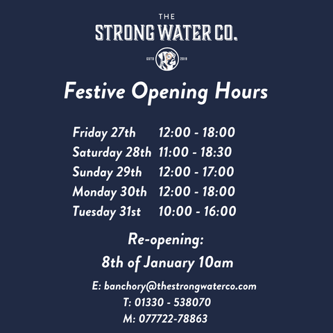 the strong water co festive opening hours