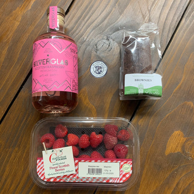 Esker Raspberry Gin + Castleton Raspberries + Brownies + Tonic Gin Deal