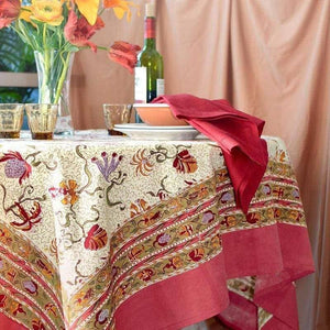 "Fleurs Des Indes Multi Tablecloth 59"" x 59"""