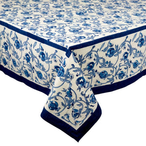 "Granada Blue Tablecloth 71"" x 128"""