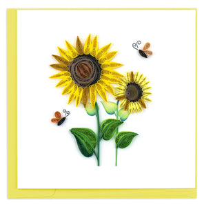 Quilling Card - Sunflower