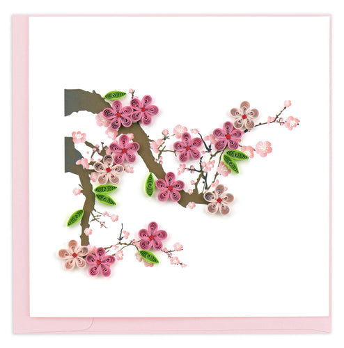 Quilling Card - Cherry Blossom