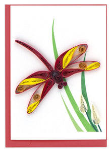 Quilling Card - Dragonfly