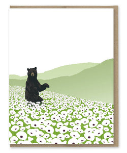 Bear and Poppies Blank Note Set