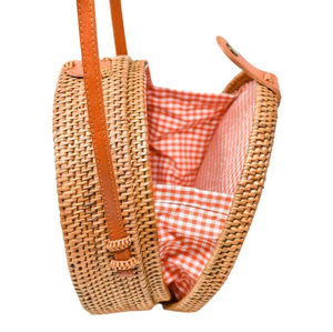 POPPY + SAGE - Camilla Bag: Orange Gingham