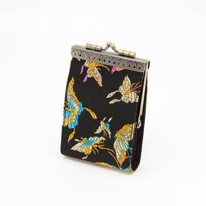 Cathayana - Black Butterfly Card Holder